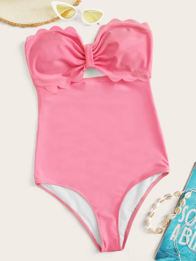 dbca6db92d Shein Pink One Piece Swimsuits - ShopStyle