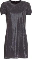 Saint Laurent Silver Midi Dress