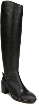 Franco Sarto Leather Block Heel High Shaft Boots - Kiana