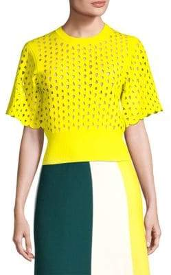 Derek Lam Cropped Short-Sleeve Top