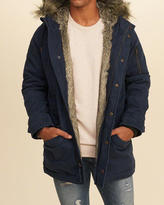Hollister Faux Fur Lined Twill Parka