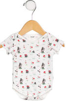Oeuf Girls' Beach Print Short Sleeve All-In-One
