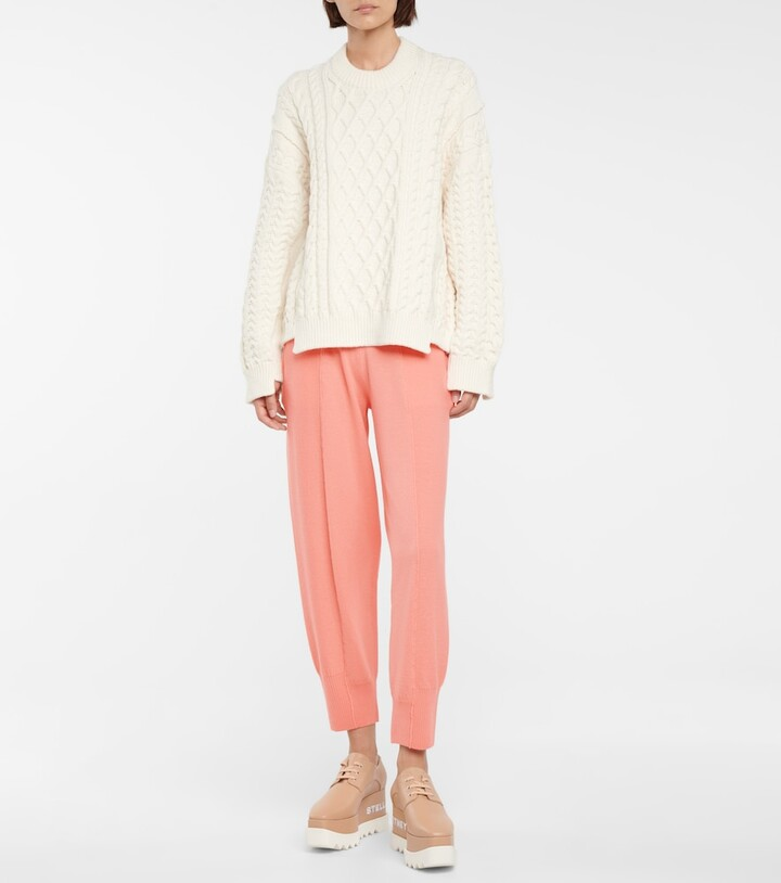 Thumbnail for your product : Stella McCartney Virgin wool sweatpants