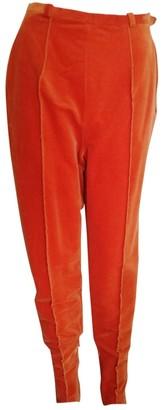 Christian Dior Orange Velvet Trousers