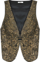 Patti sequined cotton vest