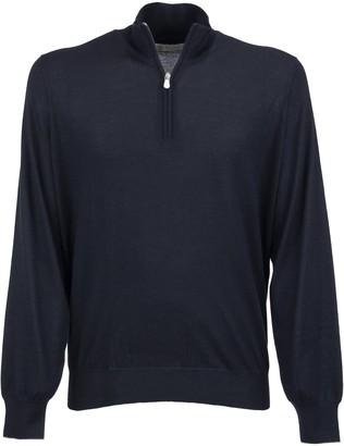 Brunello Cucinelli Cashmere And Silk Turtleneck Sweater With Zipper