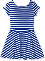 Ralph Lauren 2-6X Striped Ponte Top & Skirt Set
