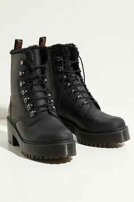 Dr. Martens Leona Fur Lined Platform Ankle Boots.