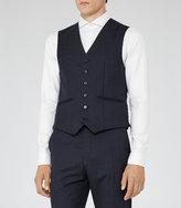 Reiss Reiss Brill W - Modern Wool Waistcoat In Blue, Mens