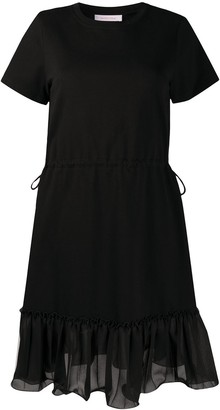 See by Chloe drawstring ruffled T-shirt dress