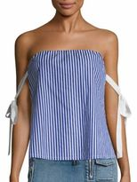 RtA Josephine Striped Strapless Top