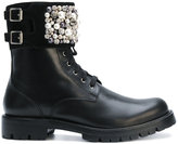 Rene Caovilla embellished boots - women - Calf Leather/Leather/rubber - 36