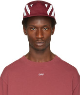Off-White Burgundy Diagonals Cap