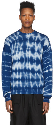 Marcelo Burlon County of Milan Blue Tie-Dye Crewneck Sweater