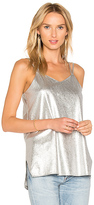 Halston Metallic Cami in Metallic Silver. - size XS (also in )