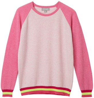 Cove Carmen Pink Cashmere Jumper With Neon Stripes