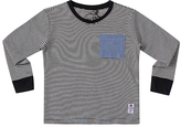 Something Strong Gray Contrast Pocket Tee - Boys