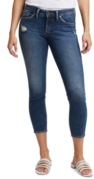 Silver Jeans Co. Suki Ripped Cropped Skinny Jeans