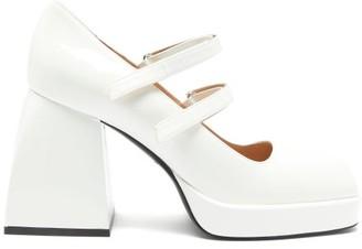 Nodaleto Bulla Babies Platform Mary-jane Sandals - White