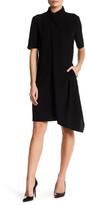 Anne Klein Draped Front Asymmetrical Shirt Dress