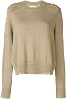 Etoile Isabel Marant Étoile ripped effect jumper - women - Cotton/Wool - 36