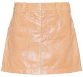 Chloé Polished leather miniskirt