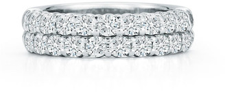 Nm Diamond Collection Two-Row Diamond Eternity Band Ring in 18K White Gold, 1.98 tdcw, Size 6.75