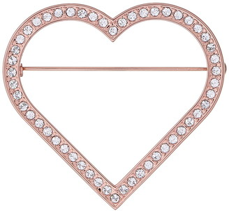 Ted Baker Rose Gold Plated Estrada Enchanted Heart Brooch