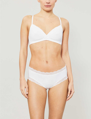Hanro Cotton Lace underwired stretch-jersey spacer bra