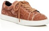 Rebecca Minkoff Bleecker Too Velvet Lace Up Sneakers