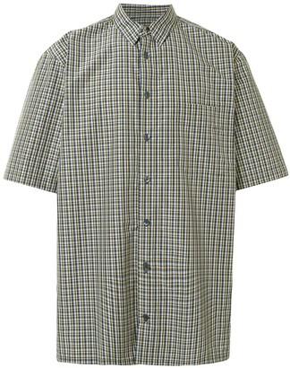 Raf Simons Support Lab print check shirt