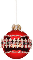 "Mark Roberts Red Pearl Clover 5"" Ornament"