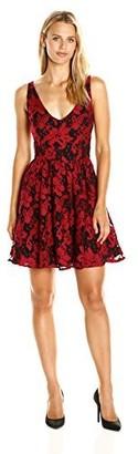 BB Dakota Women's Lanson Lace Fit N Flare Dress