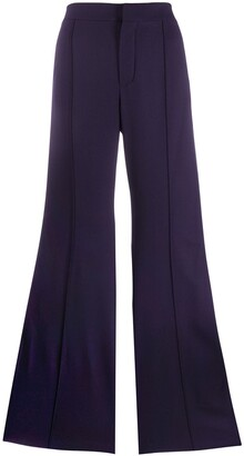 Chloé Side Stripe Flared Trousers