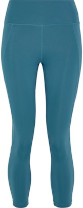 Iris & Ink Cropped Perforated Stretch Leggings
