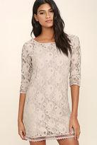 Gentle Fawn Hawk Grey Lace Dress