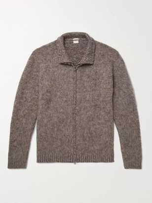 Massimo Alba Melange Cashmere Zip-Up Cardigan - Men - Brown