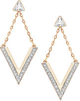 Swarovski Delta Crystal Stud and Drop Earrings Set