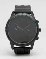 Asos Oversized Watch In Black