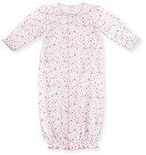 Kissy Kissy Fall Blossoms Convertible Pima Sleep Gown, Pink, Size Newborn-Small