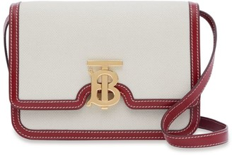 Burberry Small Canvas-Leather TB Bag