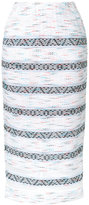 Coohem sheer detail tweed skirt - women - Cotton/Acrylic/Nylon/Paper Yarn - 36