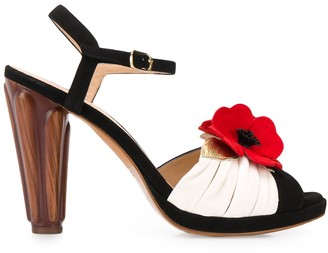 Chie Mihara Jusla floral-appliqued sandals