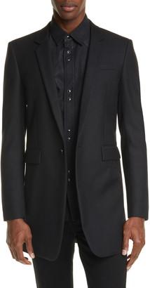 Saint Laurent Virgin Wool Long Jacket