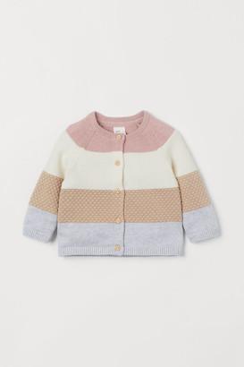 H&M Textured-knit cotton cardigan