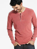 Lucky Brand Venice Burnout Thermal Henley