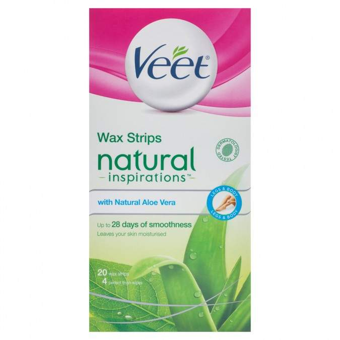 Veet Natural Inspirations Aloe Vera Body Wax Strips 20 pack