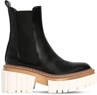 Stella McCartney 60mm Emilie Faux Patent Leather Boots