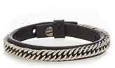 Givenchy Metal-chain leather bracelet
