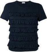 RED Valentino frill panel T-shirt - women - Cotton - S